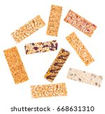 granola bars with cereals and... | Shutterstock . vector #668631310