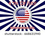 united stated independence day... | Shutterstock .eps vector #668631940