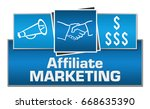 affiliate marketing blue... | Shutterstock . vector #668635390