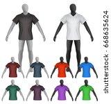 plain polo shirt on mannequin... | Shutterstock .eps vector #668635624