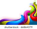 illustration of rainbow colored ...