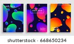 template for cover design with... | Shutterstock .eps vector #668650234