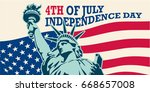 4th of july  united stated... | Shutterstock .eps vector #668657008