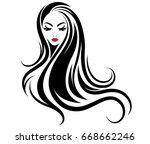 illustration of women long hair ... | Shutterstock .eps vector #668662246