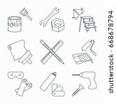 collection of outline repair... | Shutterstock .eps vector #668678794