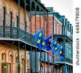 french quarter  new orleans ... | Shutterstock . vector #668679808