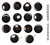 isolated blackcurrants.... | Shutterstock .eps vector #668680066