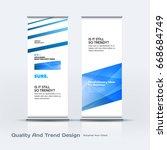 abstract business vector set of ... | Shutterstock .eps vector #668684749