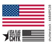usa flag | Shutterstock .eps vector #668689138