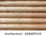wood texture. the facade of a...   Shutterstock . vector #668689144