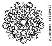 floral mandala. creative anti... | Shutterstock .eps vector #668689639