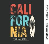 california  surfing typography. ... | Shutterstock .eps vector #668697619