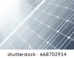 the texture of the solar cell...   Shutterstock . vector #668702914