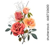 illustration of beautiful... | Shutterstock . vector #668710600
