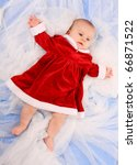 Cute Baby Dressed As Santa On A ...