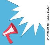 megaphone  speaker  loudspeaker ... | Shutterstock . vector #668716234