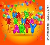 birthday banner | Shutterstock .eps vector #668721754