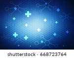 medical abstract background | Shutterstock . vector #668723764