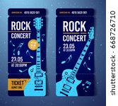 vector rock festival ticket... | Shutterstock .eps vector #668726710