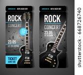 vector rock festival ticket... | Shutterstock .eps vector #668726740