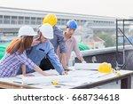 harmonious engineer and...   Shutterstock . vector #668734618