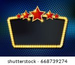 colorful retro marquee stylish... | Shutterstock .eps vector #668739274