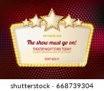 colorful retro marquee stylish... | Shutterstock .eps vector #668739304