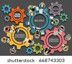 flat design illustration... | Shutterstock .eps vector #668743303