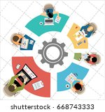 flat design illustration... | Shutterstock .eps vector #668743333