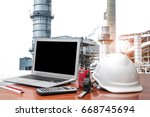 engineering industry concept in ... | Shutterstock . vector #668745694