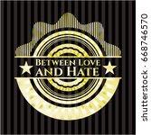 between love and hate gold... | Shutterstock .eps vector #668746570