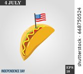 tacos icon in trendy flat style ...