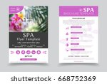 minimalistic spa and healthcare ... | Shutterstock .eps vector #668752369