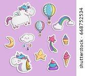 set of elements for your design.... | Shutterstock .eps vector #668752534