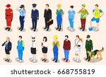profession isometric set of... | Shutterstock .eps vector #668755819