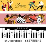 dance   jazz   piano concert... | Shutterstock .eps vector #668755843