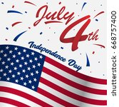 4th of july usa happy... | Shutterstock .eps vector #668757400