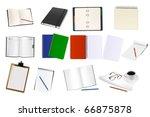 some office supplies. vector. | Shutterstock .eps vector #66875878