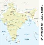 republic of india vector map | Shutterstock .eps vector #668758858