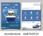 sea shipping poster template