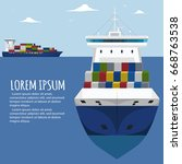 sea shipping banner template.... | Shutterstock .eps vector #668763538