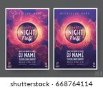 summer night club party flyer... | Shutterstock .eps vector #668764114