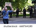trump protester   june 4th 2017 ... | Shutterstock . vector #668764180