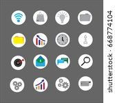vector business icon and... | Shutterstock .eps vector #668774104