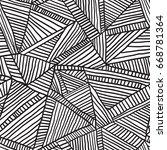 geometric seamless vector... | Shutterstock .eps vector #668781364