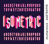 3d isometric alphabet vector... | Shutterstock .eps vector #668783998