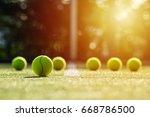 soft focus of tennis ball on... | Shutterstock . vector #668786500