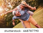 happy couple. loving couple... | Shutterstock . vector #668787790