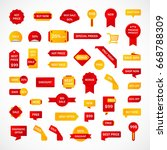 vector stickers  price tag ... | Shutterstock .eps vector #668788309