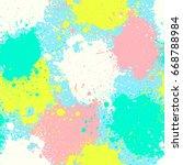 grunge splatter pattern. paint... | Shutterstock .eps vector #668788984
